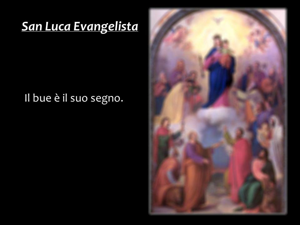 Il bue è il suo segno. San Luca Evangelista