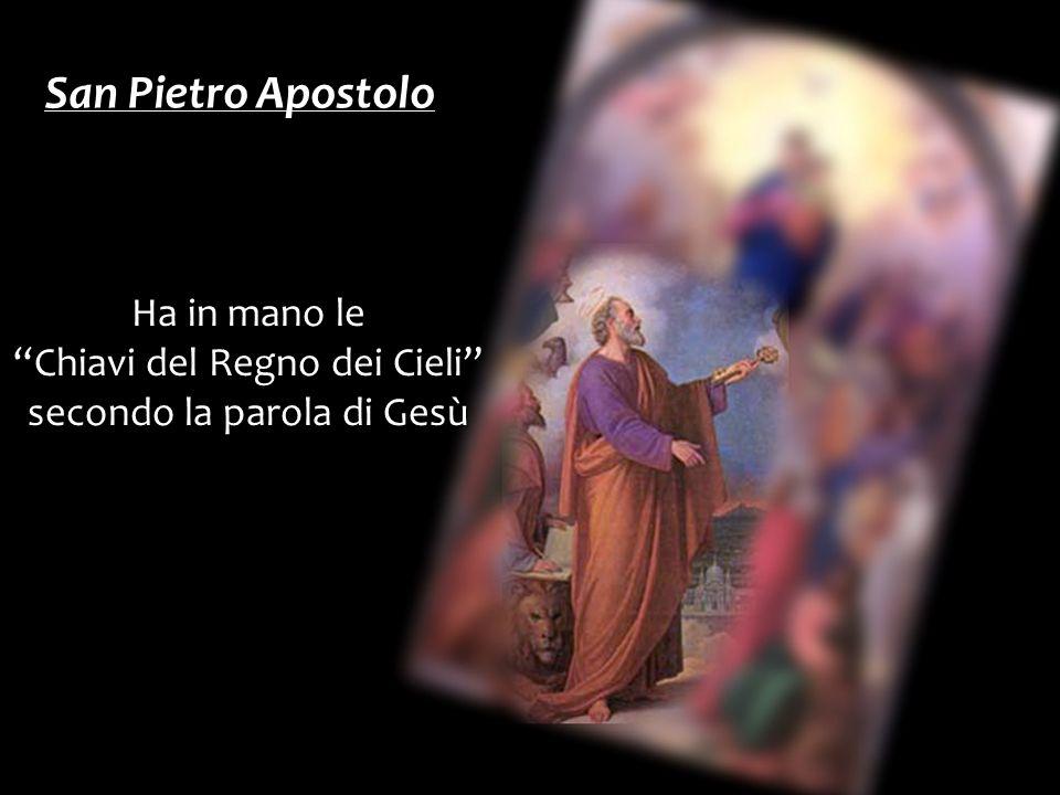 San Pietro Apostolo Ha in mano le Chiavi del Regno dei Cieli secondo la parola di Gesù