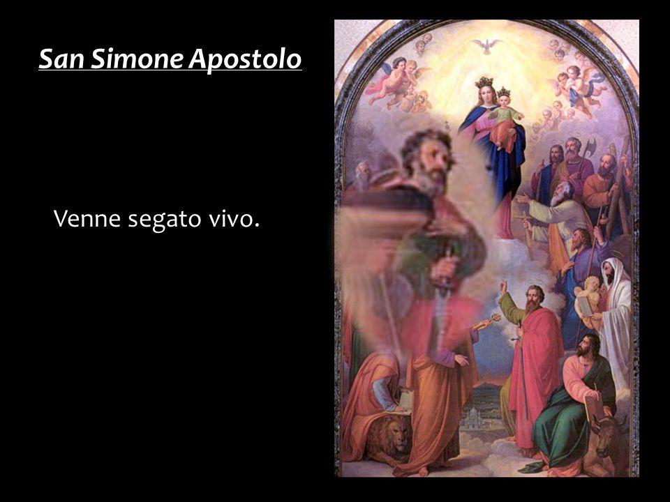 Venne segato vivo. San Simone Apostolo