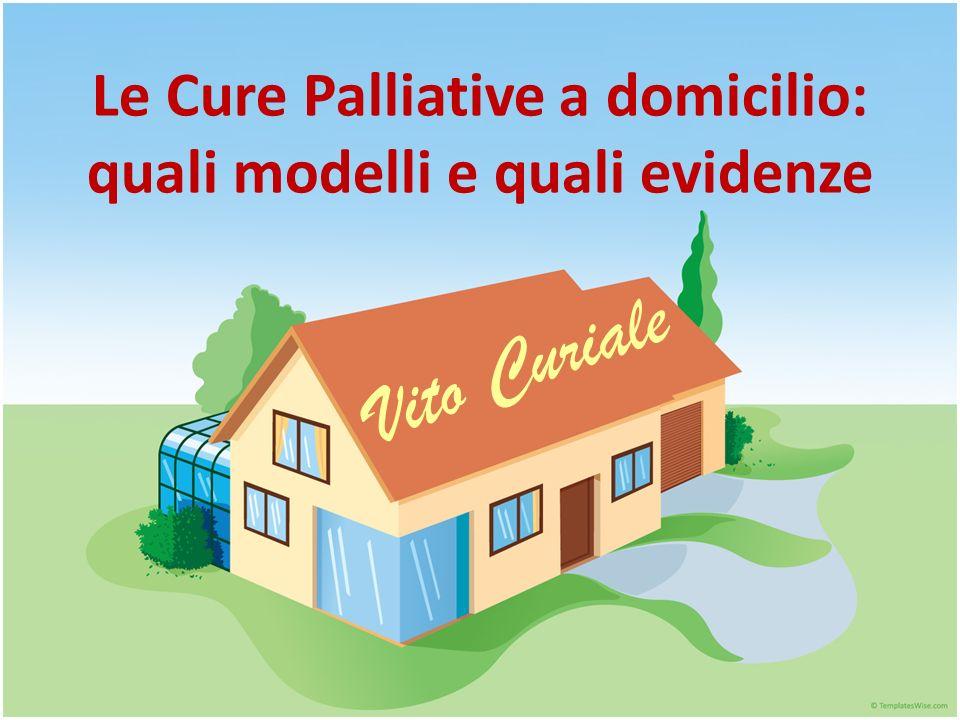 Modelli di erogazione delle Cure Palliative a domicilio Primary healthcare team Hospice home care nurse Multidisciplinary home care support team Comprehensive hospital at home