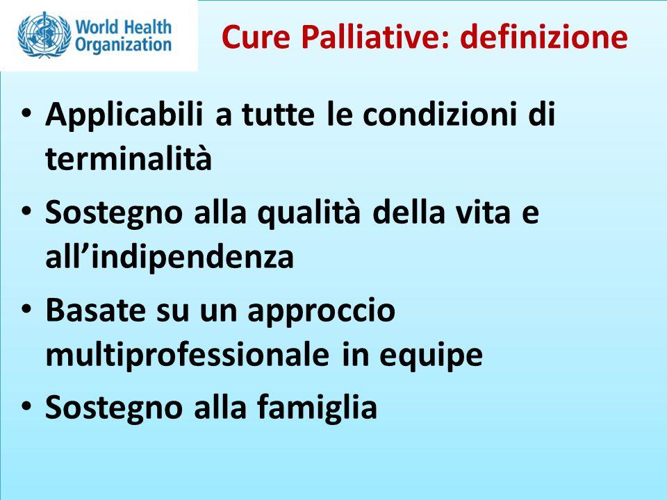23 studi RCT: 13 Cluster-RCT: 3 CCT: 2 Cluster-CCT: 2 CBA: 2 ITS: 1 con CBA annidato Effectiveness and cost-effectiveness of home palliative care Gomes, Calanzani, Curiale, McCrone, Higginson.