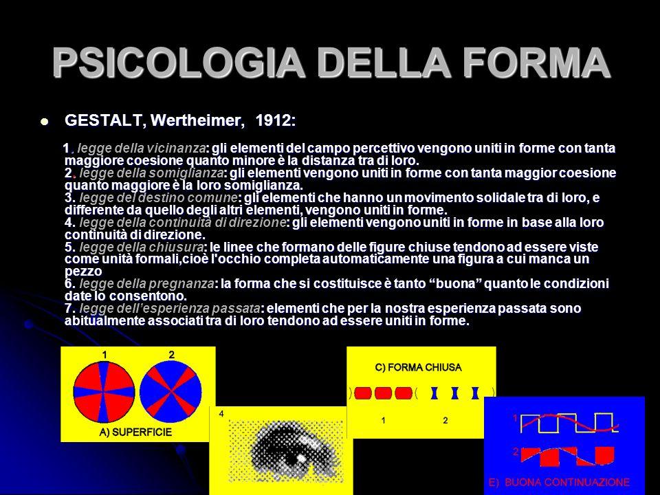 Liberation M.C.Escher,1955 Recenti studi di laboratorio condotti nellambito della psicofisica e neurofisiologia hanno dimostrato che, nellidentificazione di uno stimolo visivo, un ruolo fondamentale è rivestito dalle frequenze spaziali e che le frequenze spaziali basse forniscono linformazione sulla configurazione globale dello stimolo mentre quelle alte forniscono le informazioni relative ai suoi dettagli.