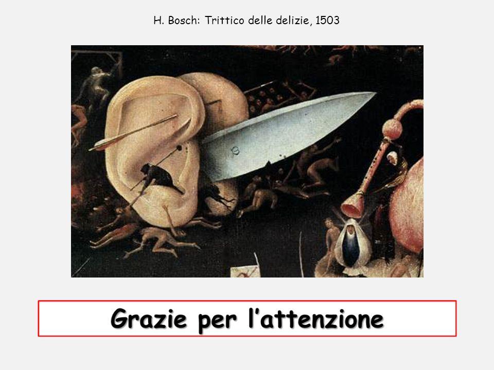 H. Bosch: Trittico delle delizie, 1503