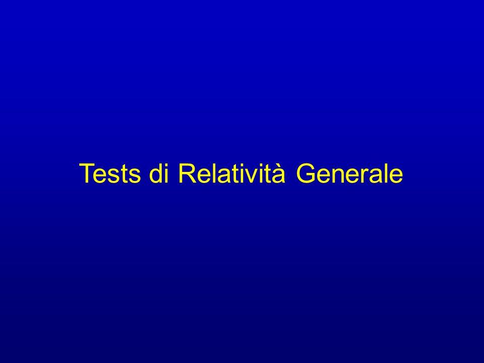 Tests di Relatività Generale
