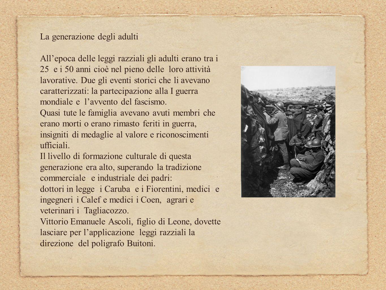 E nellesercizio delle libere professioni che si accentua il legame con il regime fascista: Leone Tagliacozzo fu segretario del Fascio della frazione di s.
