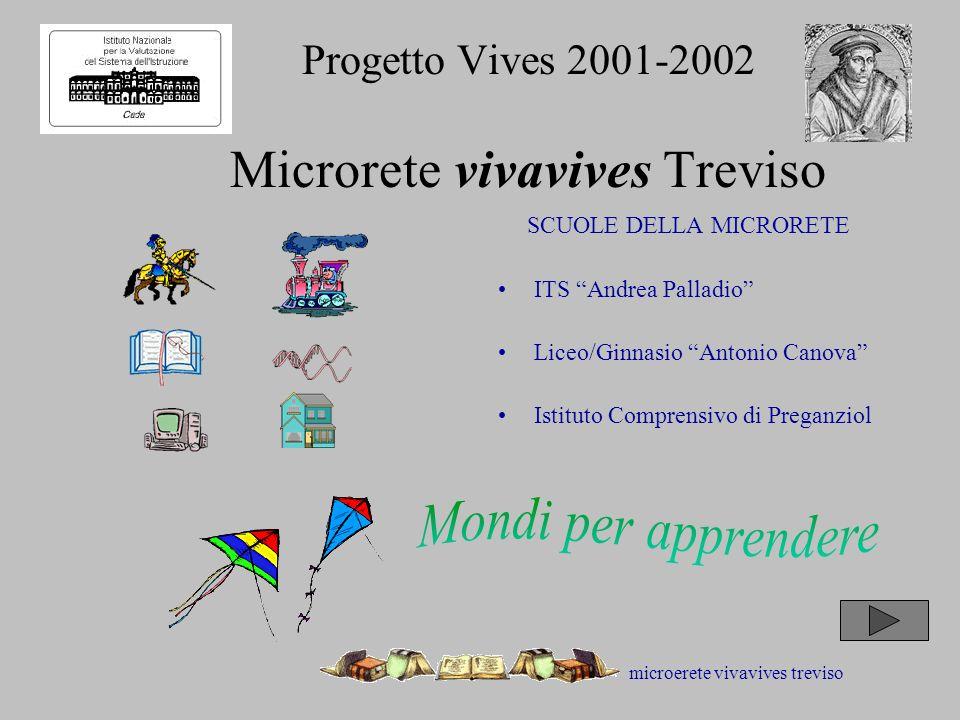 microerete vivavives treviso Progetto Vives 2001-2002 Microrete vivavives Treviso SCUOLE DELLA MICRORETE ITS Andrea Palladio Liceo/Ginnasio Antonio Canova Istituto Comprensivo di Preganziol