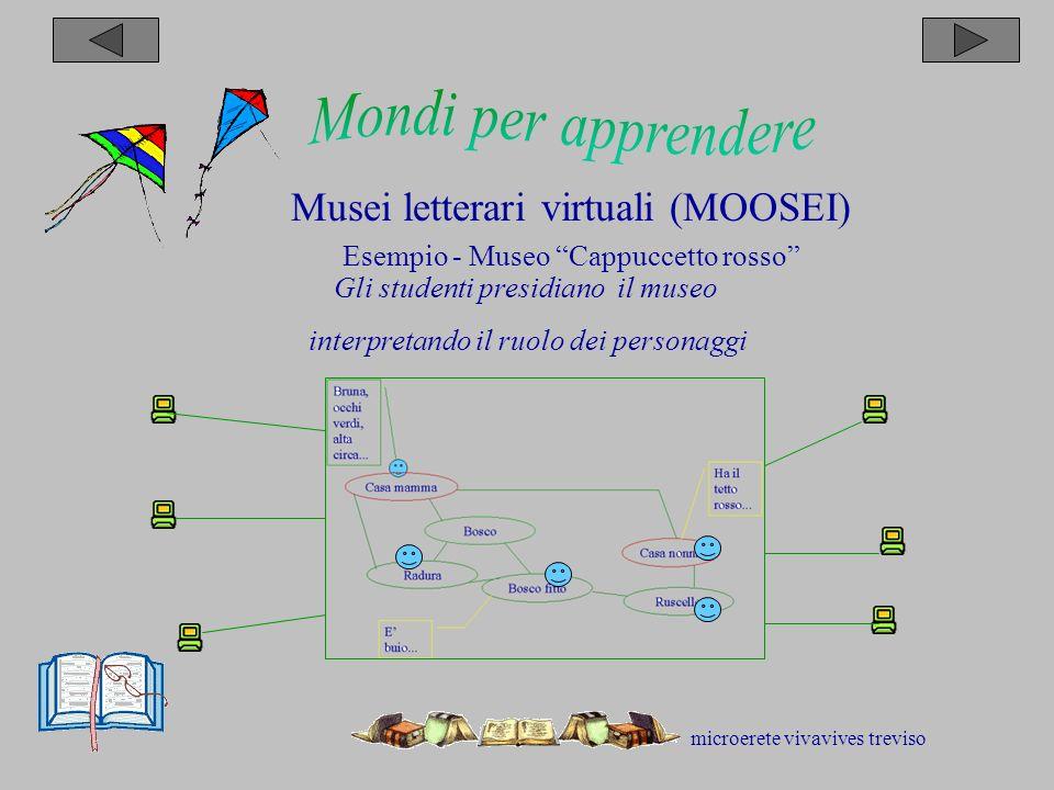 microerete vivavives treviso Musei letterari virtuali (MOOSEI) Esempio - Museo Cappuccetto rosso Gli studenti presidiano il museo interpretando il ruolo dei personaggi