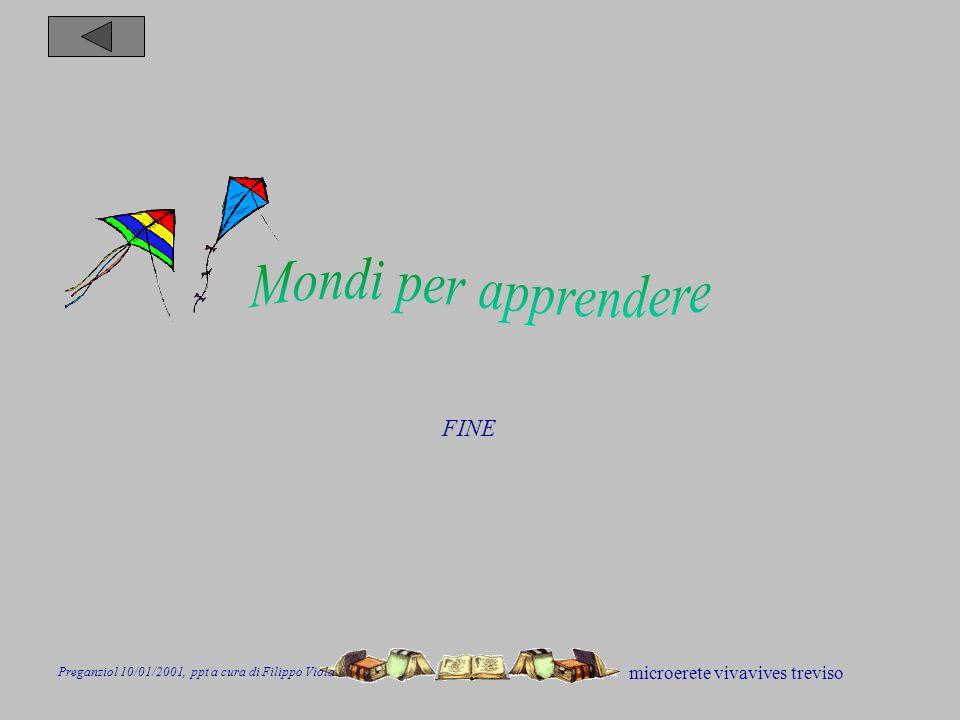 microerete vivavives treviso FINE Preganziol 10/01/2001, ppt a cura di Filippo Viola