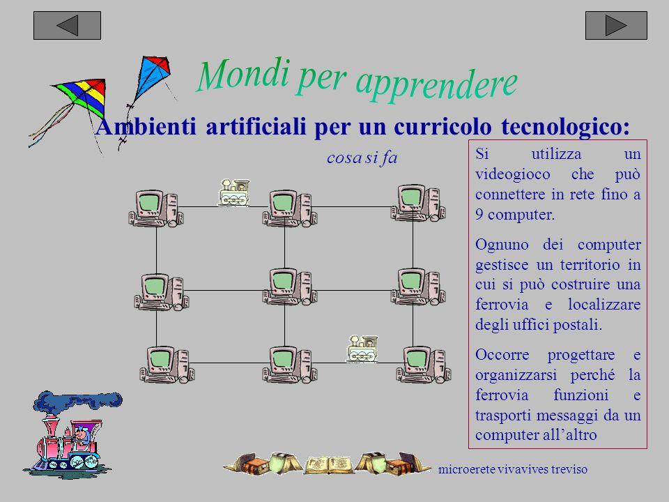 microerete vivavives treviso Si utilizza un videogioco che può connettere in rete fino a 9 computer.