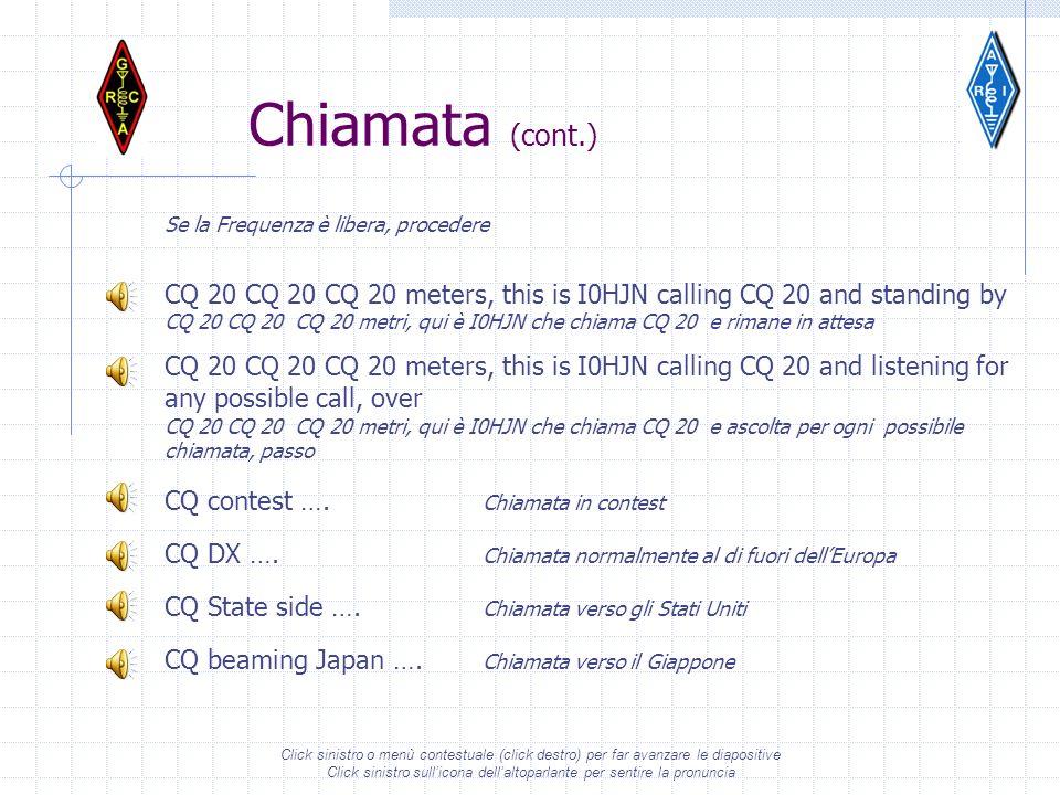 Click sinistro o menù contestuale (click destro) per far avanzare le diapositive Click sinistro sullicona dellaltoparlante per sentire la pronuncia Ch