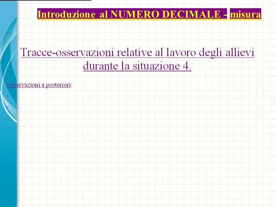 Situazione 5 Obiettivo: Ricapitolazione ed esercitazione.