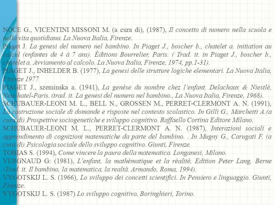 NOCE G., VICENTINI MISSONI M.