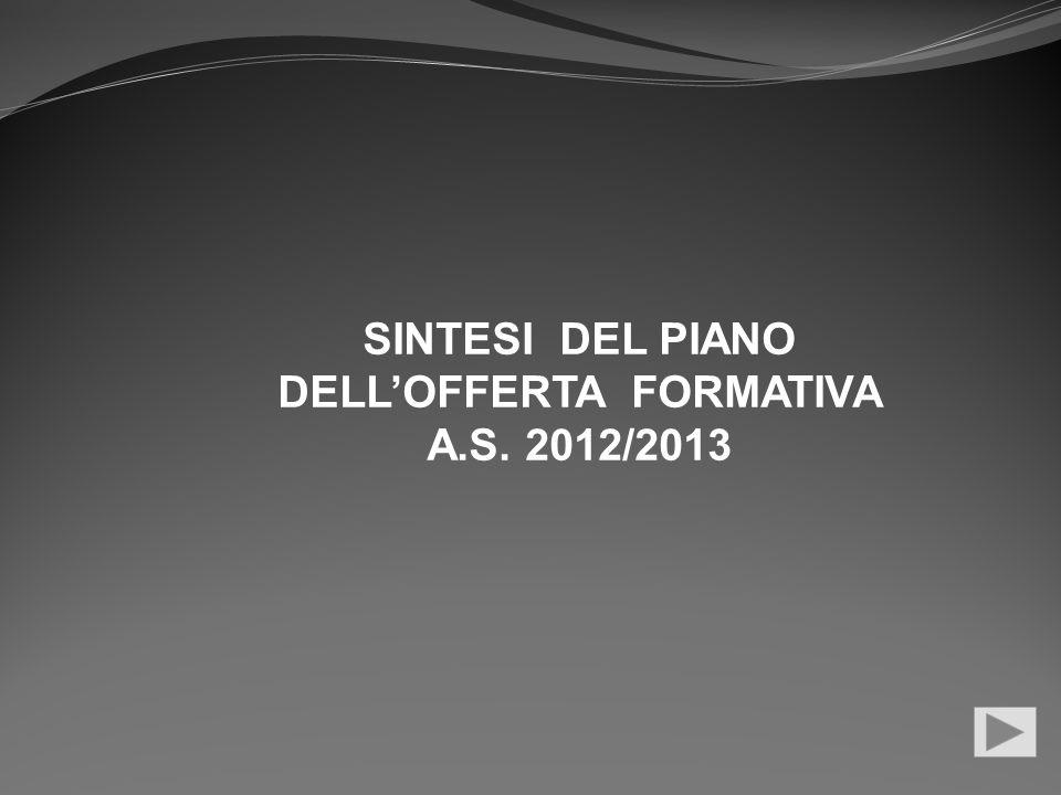 SINTESI DEL PIANO DELLOFFERTA FORMATIVA A.S. 2012/2013