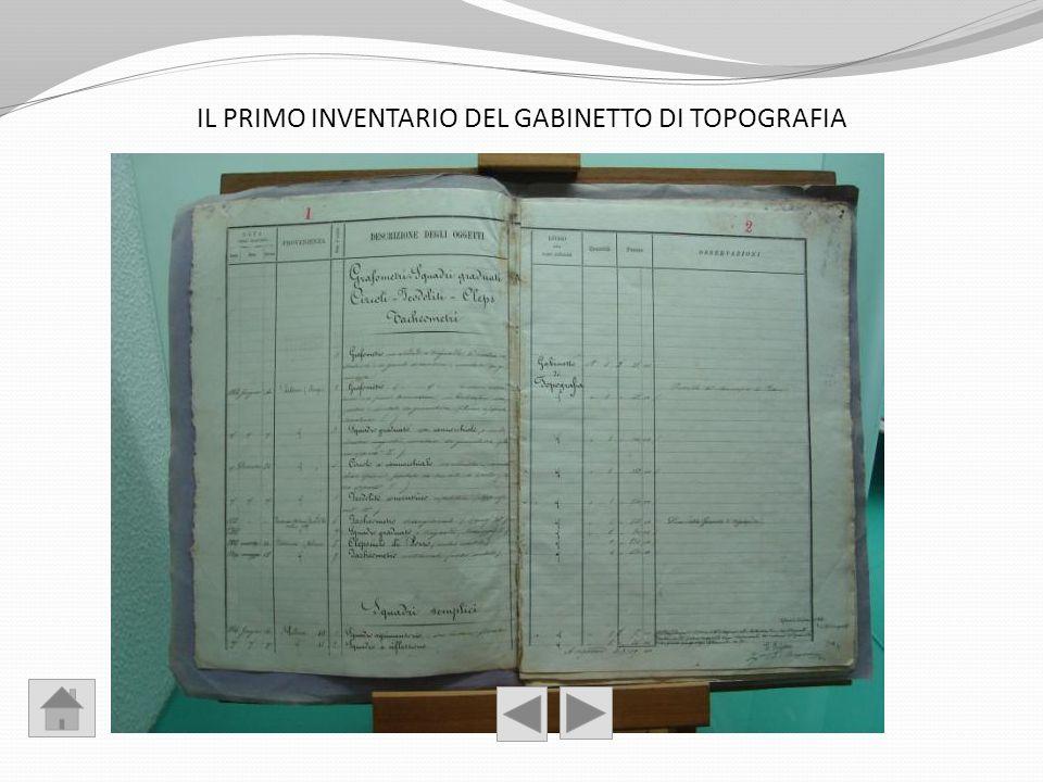 IL PRIMO INVENTARIO DEL GABINETTO DI TOPOGRAFIA