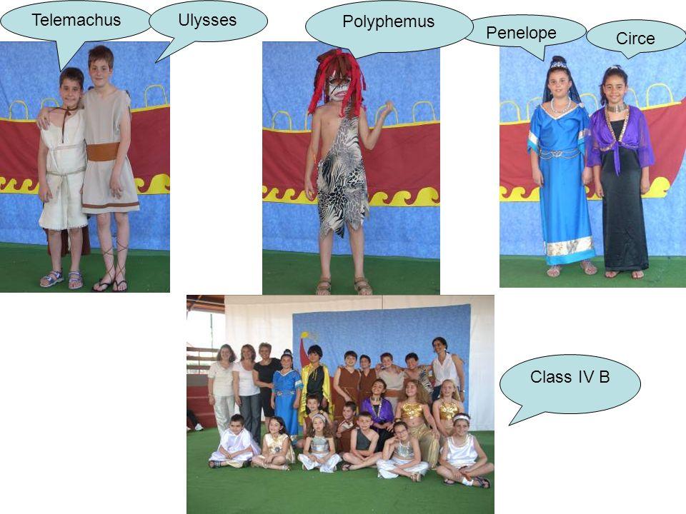 Penelope Telemachus Polyphemus Ulysses Circe Class IV B