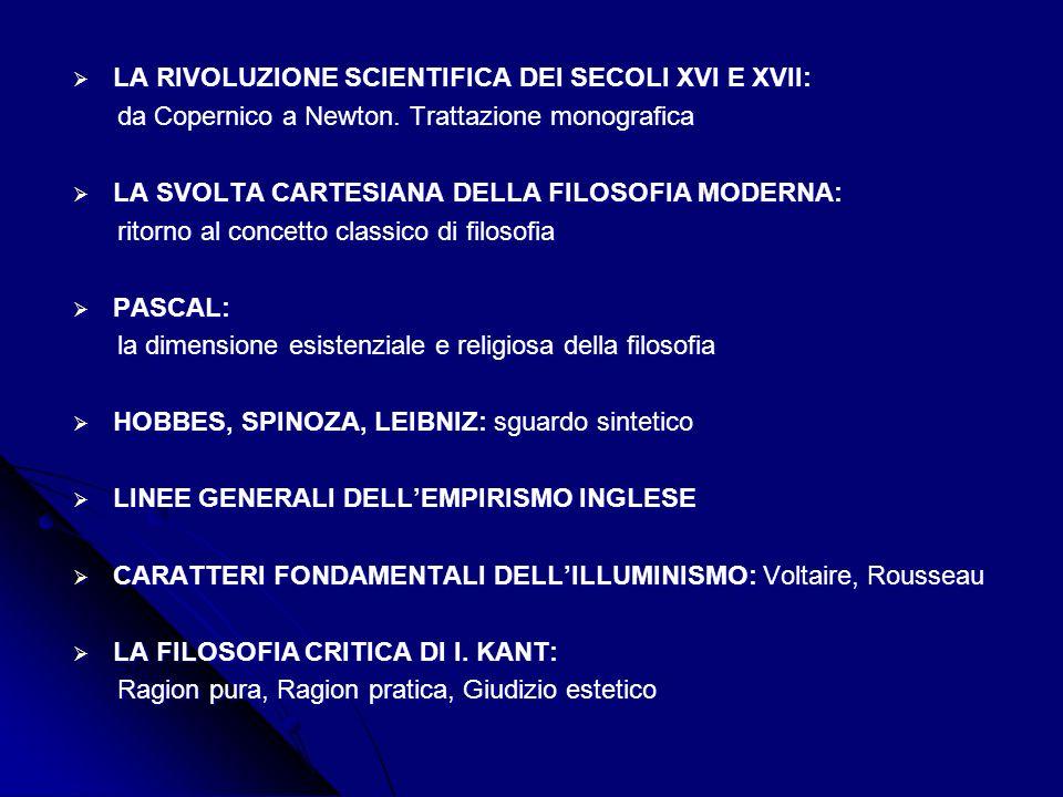 LA RIVOLUZIONE SCIENTIFICA DEI SECOLI XVI E XVII: LA RIVOLUZIONE SCIENTIFICA DEI SECOLI XVI E XVII: da Copernico a Newton.