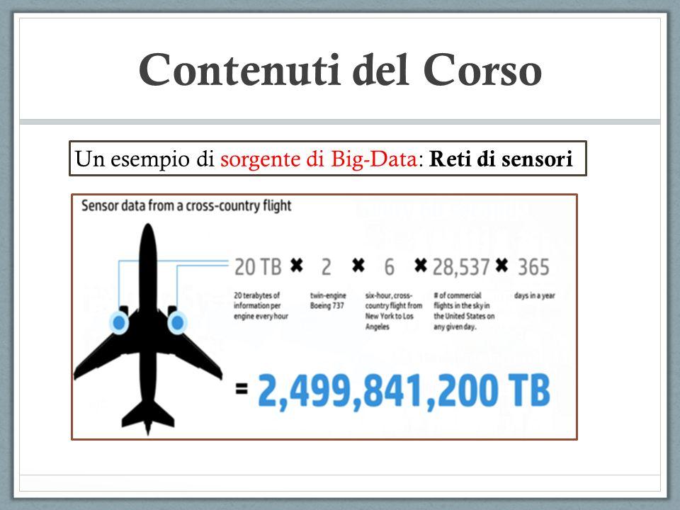 Contenuti del Corso Un esempio di sorgente di Big-Data: Reti di sensori