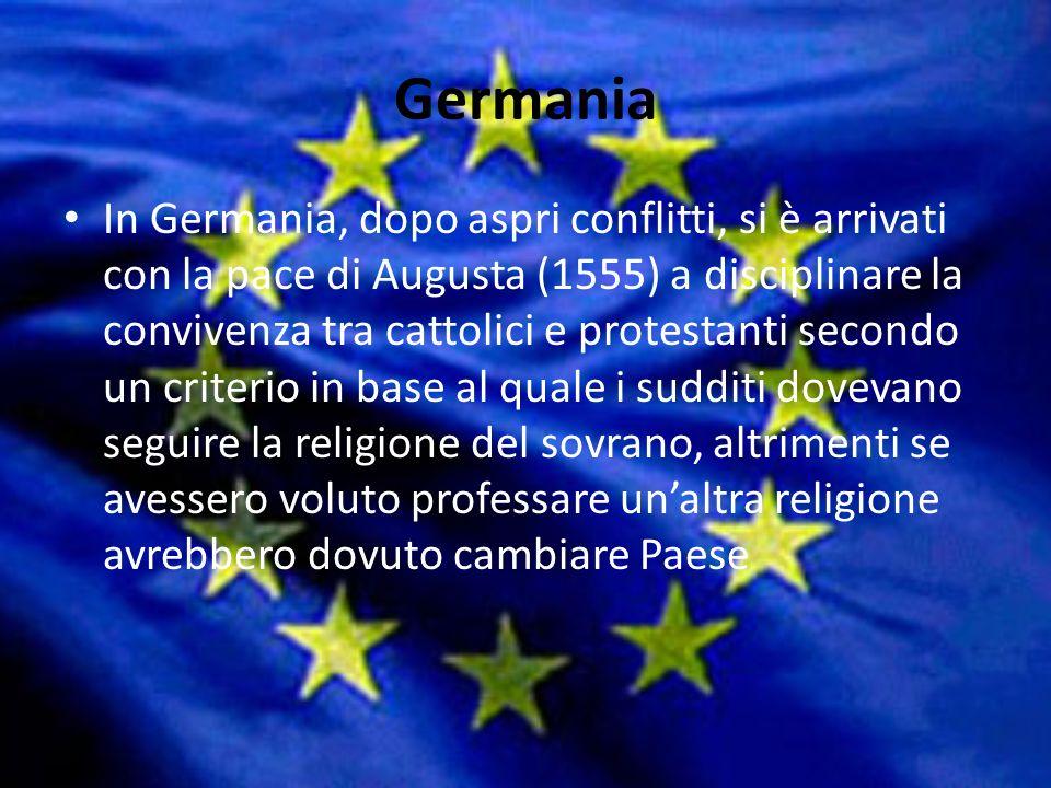 Guerre di religione La seconda metà del 1500 vide esplodere in Europa il fenomeno delle guerre di religione. Il sogno di Carlo V di unificare lEuropa