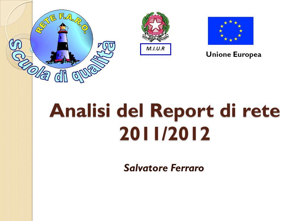 Analisi del Report di rete 2011/2012 Salvatore Ferraro Unione Europea M.I.U.R