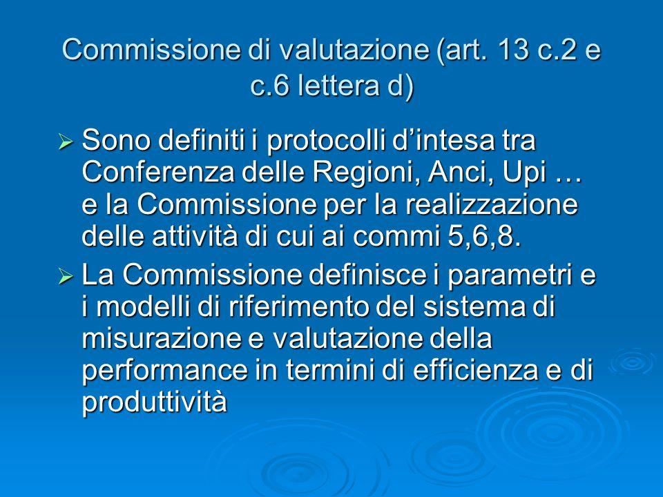 Commissione di valutazione (art.