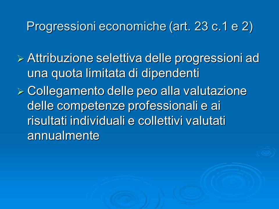 Progressioni economiche (art.