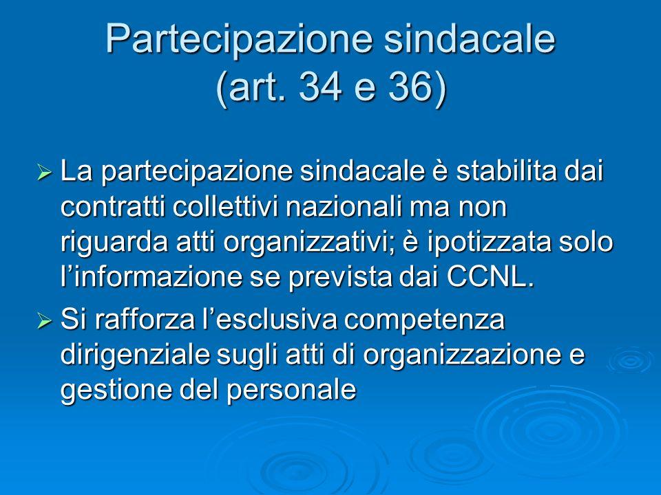 Partecipazione sindacale (art.