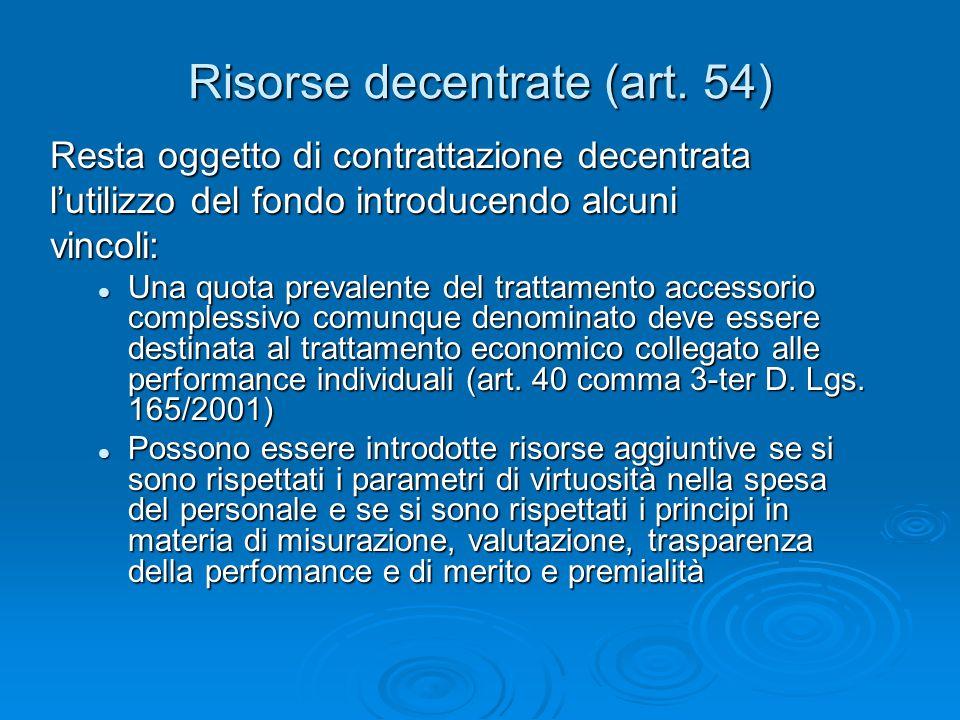 Risorse decentrate (art.