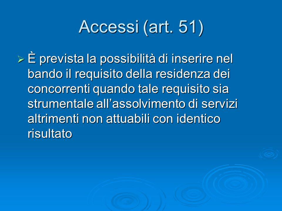 Accessi (art.