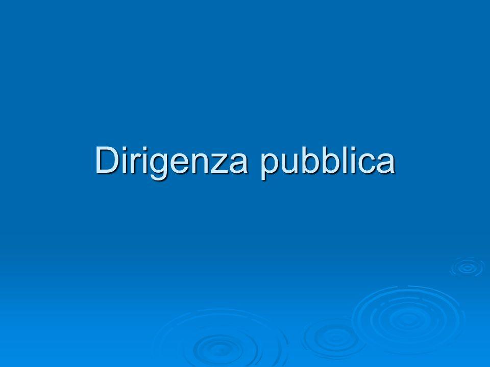 Dirigenza pubblica