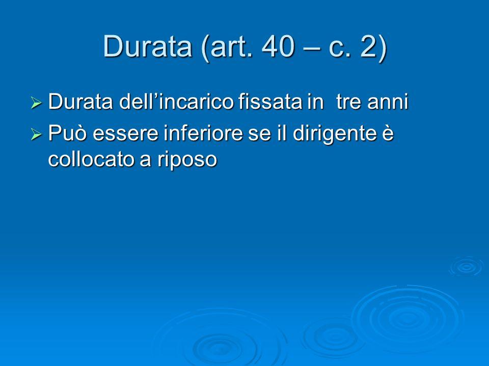 Durata (art. 40 – c.
