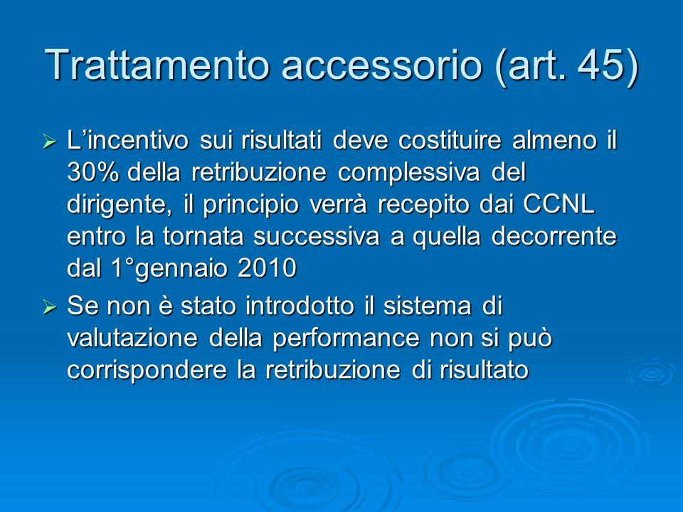 Trattamento accessorio (art.