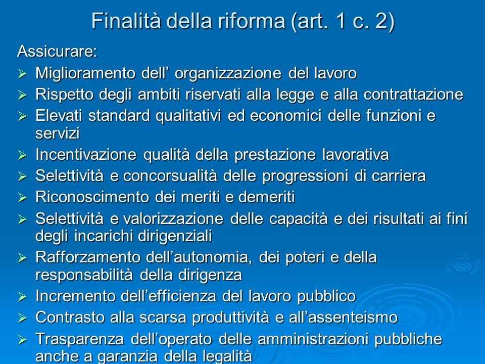 Finalità della riforma (art. 1 c.