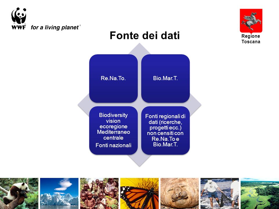 Fonte dei dati Re.Na.To.Bio.Mar.T.