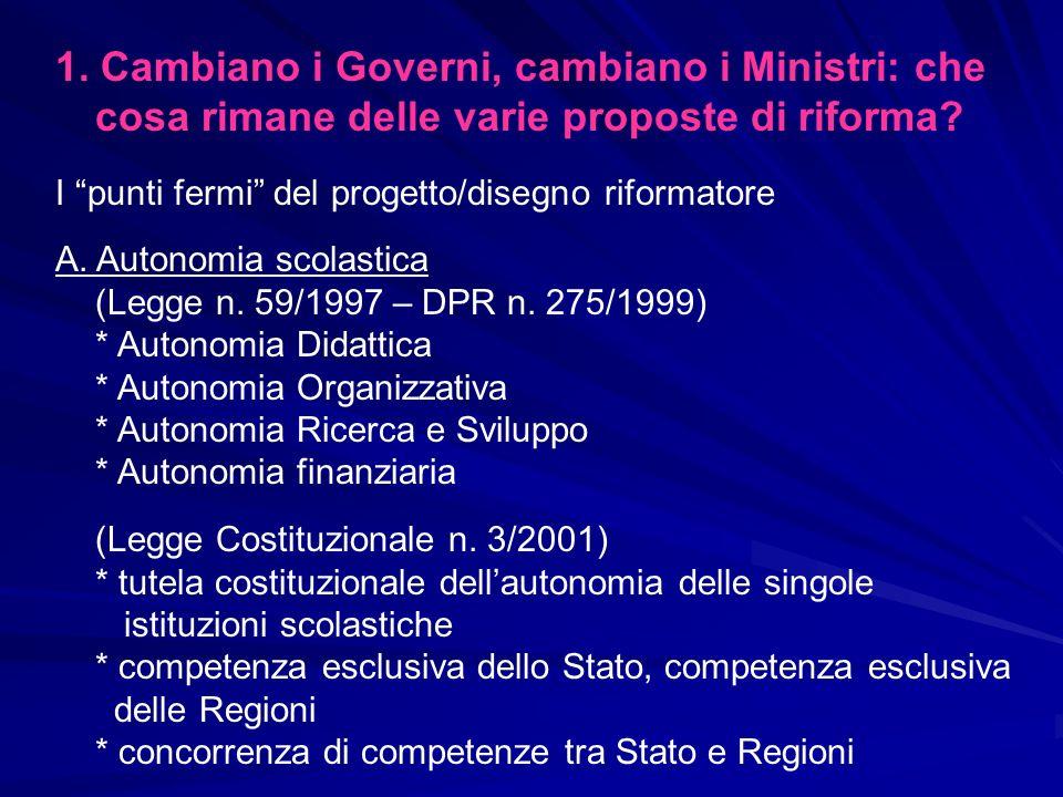 B.La riforma del sistema scolastico italiano (Moratti) legge n.