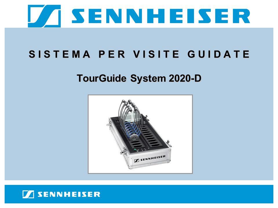TourGuide System 2020-D SK 2020-D (trasmettitore per guida) HDE 2020-D (ricevitore per visitatori) EZL 2020-20L (valigia di ricarica e trasporto) ME 3-N o HSP 4-eW (microfono per guida)
