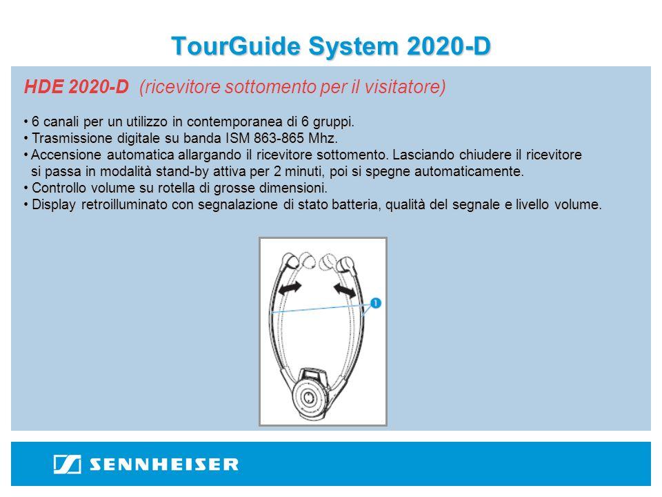 TourGuide System 2020-D SK 2020-D (trasmettitore da tasca per la guida) SK 2020-D - Libertà di movimento: il Tour Guide 2020-D permette di condurre visite guidate altamente professionali..