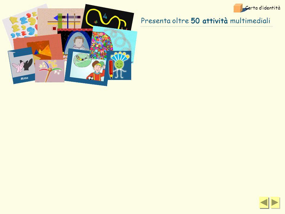 Presenta oltre 50 attività multimediali Carta didentità