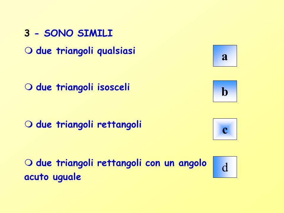 Accidenti, la risposta è sbagliata .Ciascuno dei rettangoli ha la base doppia dellaltezza.