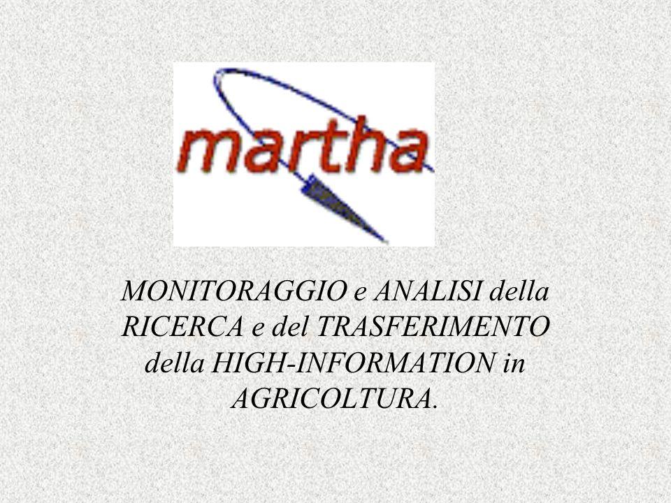 MONITORAGGIO e ANALISI della RICERCA e del TRASFERIMENTO della HIGH-INFORMATION in AGRICOLTURA.