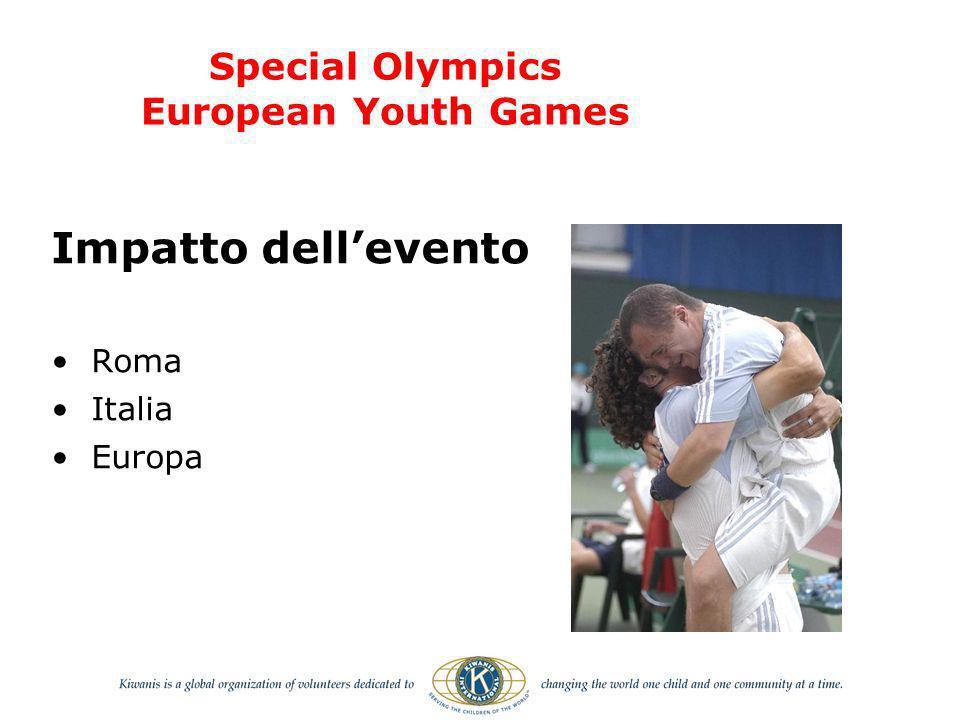 Impatto dellevento Roma Italia Europa Special Olympics European Youth Games