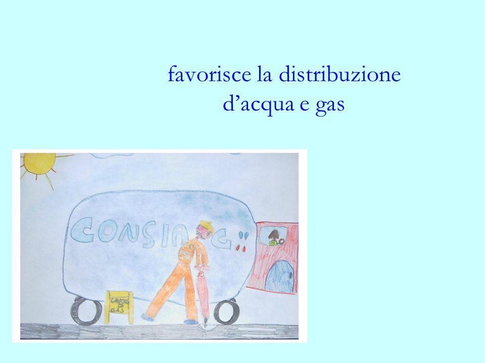favorisce la distribuzione dacqua e gas