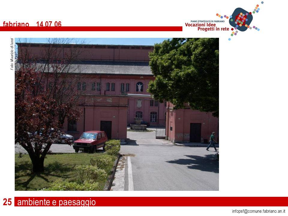 ambiente e paesaggio fabriano 14 07 06 infopsf@comune.fabriano.an.it Foto: Maurizio di Ianni 25