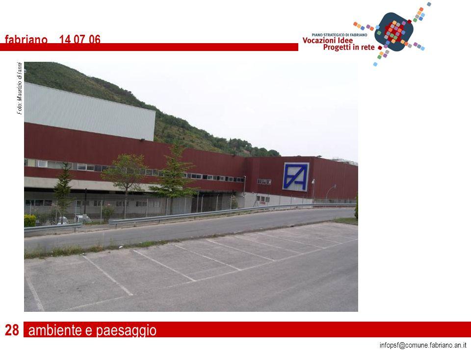 ambiente e paesaggio fabriano 14 07 06 infopsf@comune.fabriano.an.it Foto: Maurizio di Ianni 28