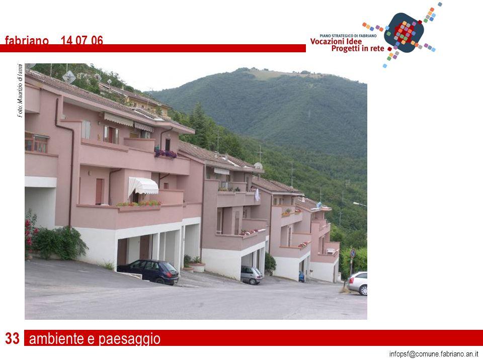 ambiente e paesaggio fabriano 14 07 06 infopsf@comune.fabriano.an.it Foto: Maurizio di Ianni 33