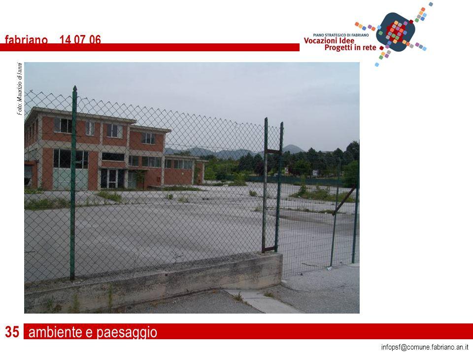 ambiente e paesaggio fabriano 14 07 06 infopsf@comune.fabriano.an.it Foto: Maurizio di Ianni 35