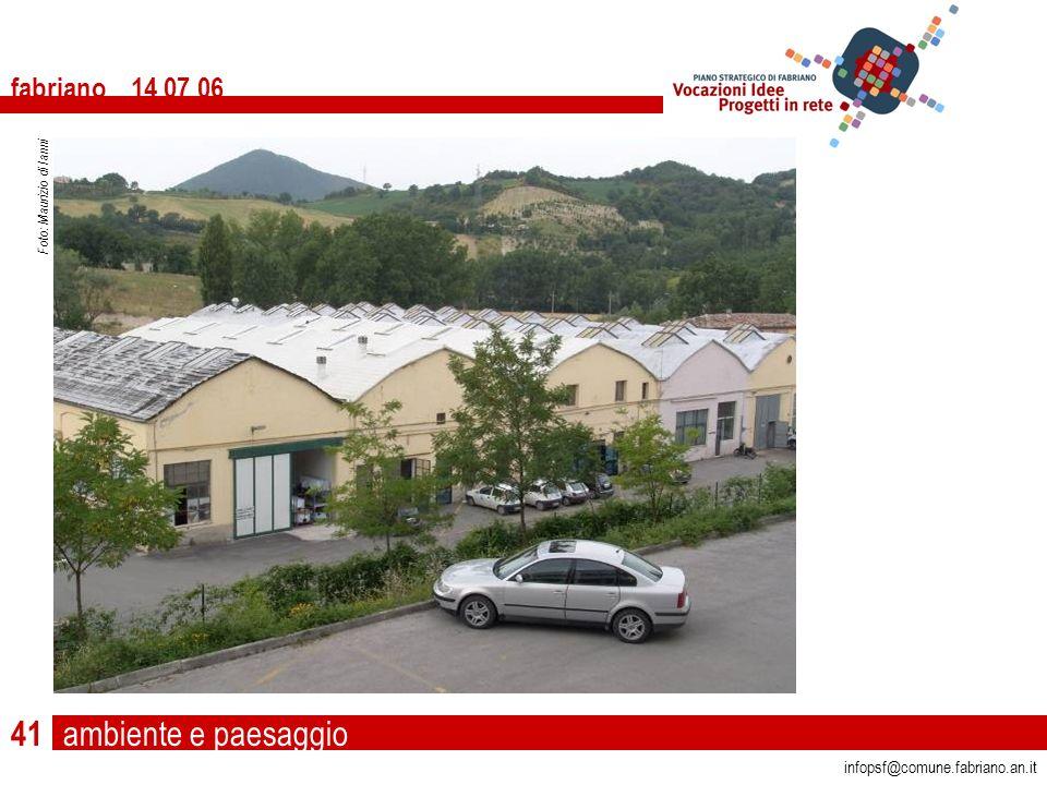 ambiente e paesaggio fabriano 14 07 06 infopsf@comune.fabriano.an.it Foto: Maurizio di Ianni 41
