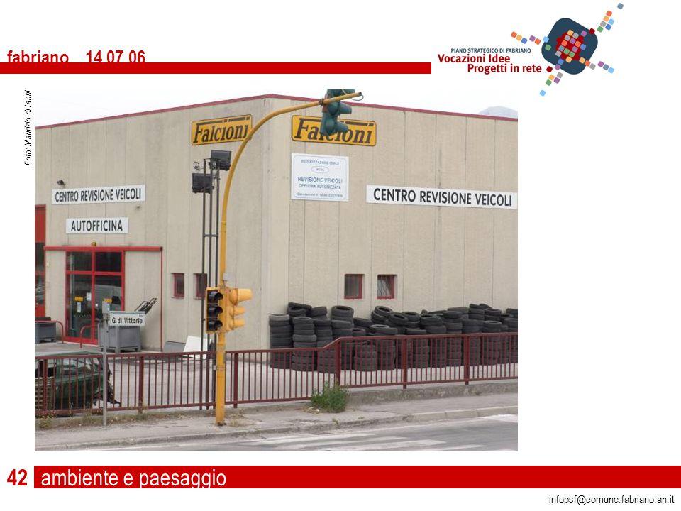 ambiente e paesaggio fabriano 14 07 06 infopsf@comune.fabriano.an.it Foto: Maurizio di Ianni 42