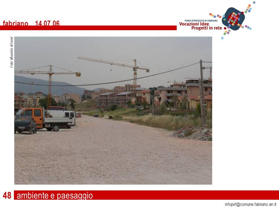 ambiente e paesaggio fabriano 14 07 06 infopsf@comune.fabriano.an.it Foto: Maurizio di Ianni 48