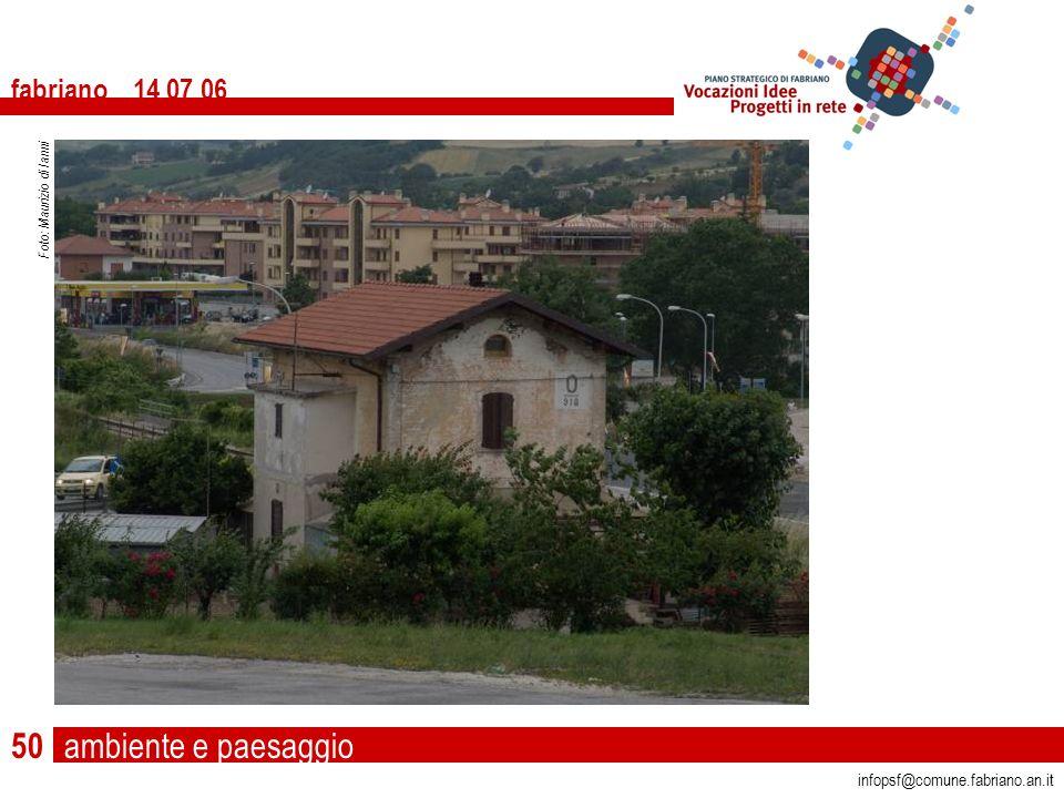 ambiente e paesaggio fabriano 14 07 06 infopsf@comune.fabriano.an.it Foto: Maurizio di Ianni 50