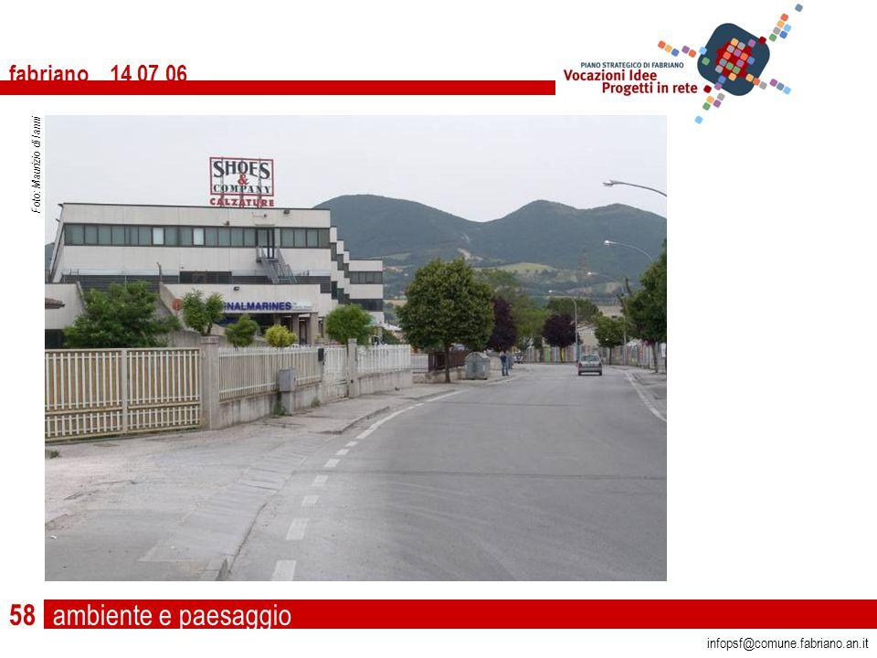 ambiente e paesaggio fabriano 14 07 06 infopsf@comune.fabriano.an.it Foto: Maurizio di Ianni 58